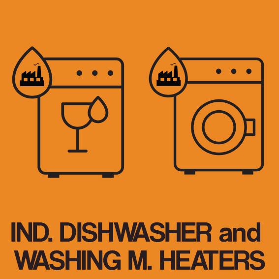 INDUSTRIAL DISHWASHER and WASHING MACHINE HEATERS